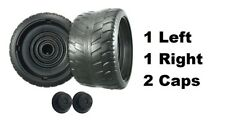 Power Wheels N8417 Cadillac Escalade EXT 2 Tires 1 Left & 1 Right GENUINE + Caps