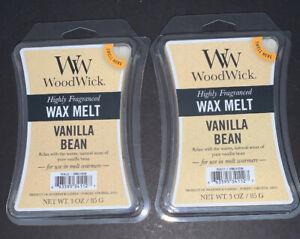 (2) WOODWICK Wax Melts VANILLA BEAN Scented / 3 Oz Each / Free Shipping