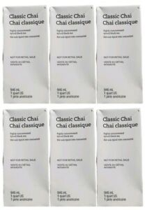 Starbucks Classic Chai Spiced Black Tea Latte Concentrate 6 Pack Best By 10/20