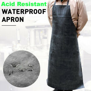 Waterproof Safety Work Apron Acid Resistant Natural Rubber Cotton For Dyeing