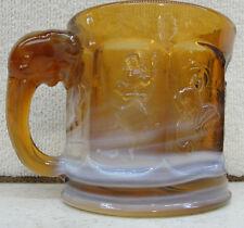 Heisey Storybook Elephant Mug by Imperial Glass Company Caramel Slag Glass