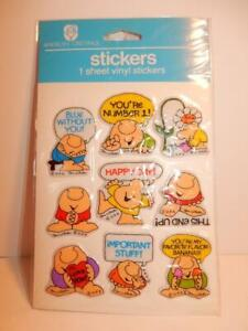 VINTAGE NOS ZIGGY PUFFY STICKERS 1980s AMERICAN GREETINGS HAPPY DAY FLOWER