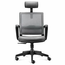 Mesh Back Ergonomic Office Chair Swivel Desk Chair With Adjustable Headrest, Sea