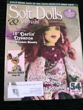 SOFT DOLLS & ANIMALS~March 2010 cloth doll patterns~techniques~tips magazine