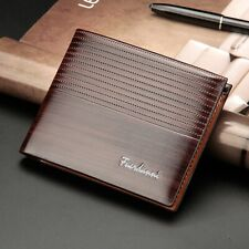 Luxury High Quality Mens Brown Leather Bifold Credit Card Holder Gift Wallet