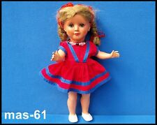 AJE Celluloid BAMBOLA BIONDA 38 cm occhi blu 50er anni doll vintage