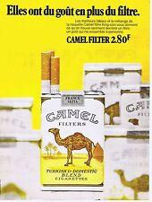 PUBLICITE ADVERTISING 114 1972 CAMEL cigarettes
