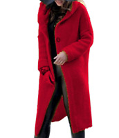 Women Hooded Long Sleeve Open Front Knitted Cardigan Outwear Autumn Sweater Coat