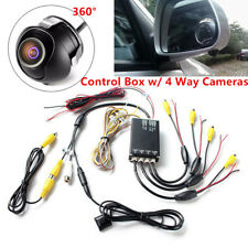 Car Parking Panoramic Side Rearview Camera System Control Box+ 4 Way Camera 360°