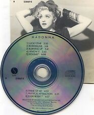 MADONNA SWITZERLAND CD THE FIRST ALBUM // HOLIDAY EVERYBODY 923867-2  ++ RARE ++