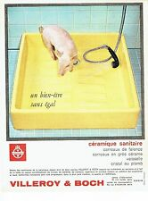 PUBLICITE ADVERTISING 037  1964  Villeroy & Bosch  sanitires bac à douche