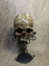 Real Human Skull Replica SIGNED Viking Rune Celtic Thor Constantine memento mori