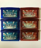 NINTENDO POKEMON Ruby (3set) Sapphire (3set) Game Boy Advance GBA Japan Used