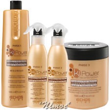 Kit Max Ki Power Echos Line ® Shampoo 1Lt + Mask 1000ml + Lotion Spray 250ml