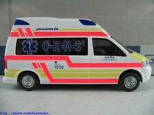 "Rietze 51699 AMBULANZ MOBILE VW T5 Hornis Silver KTW ""O-R-M-S"" 1:87/H0 NEU/OVP"
