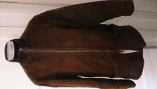 Ladies Barbour Brown Suede Quilted Jacket Size 14