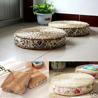 Japanese Style Hand Woven Tatami Cushion Corn Husk Breathable Pad Furniture Seat