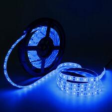 Blue 5M 300Leds 5050 SMD Flexible LED Strip Light IP65-Waterproof 12V Input