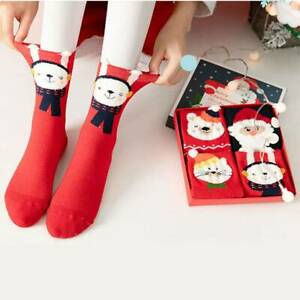 4 Pair Cotton Socks Merry Christmas for Adult Xmas Home  Decorations New Year