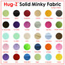 "SOLID MINKY FABRIC 58""/60"" WIDTH SMOOTH BABY SOFT MINKY SOLD BY THE YARD"
