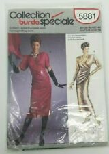 Vtg Burda 5881 Special Collection Dress Sewing Pattern Uncut Sizes 10-16