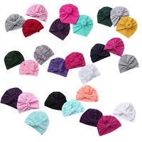 Newborn Baby Infant Girls Boys Bowknot Turban Hospital Cap Beanie Hat Headwear