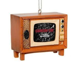 Alabama Crimson Tide Christmas Tree Holiday Ornament New Logo Nostalgia Retro TV
