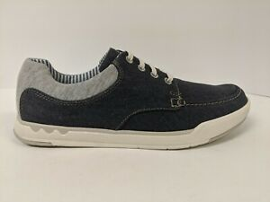 Clark's Canvas Lace Up, Navy, Men's 8.5