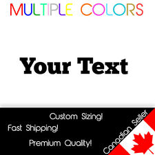 Custom Text Decal - Personalized Your Text vinyl die cut sticker ChunkFive