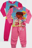 Doc McStuffins Girls Kids Cotton Long Sleeve Top Trousers Pyjamas Set 2 3 4 5 6y