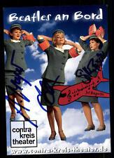 Beatles an Bord Autogrammkarte Original Signiert # BC 45845