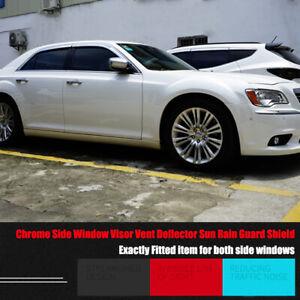 Windows Chrome Vent Visors Guard Sun Shield Deflectors For Chrysler 300C