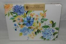 4 Benson Mills Spring Floral Hydrangeas Blooms Cork Placemats NEW FREE SHIPPING