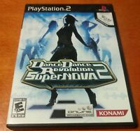 Dance Dance Revolution SuperNova 2 Sony PlayStation 2 PS2 Konami  Bemani  Music