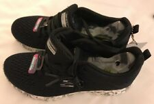 💕Skechers Black/White Size 9 USA Burst Summer Crush New💕Womens