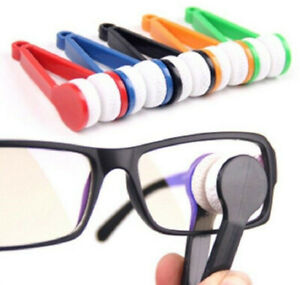 Mini Eye Glasses Lens Cleaning Brush Cleaner Microfiber Spectacles glass Cleaner