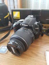 NIKON D3000 DIGITAL SLR CAMERA WITH AF-S NIKKOR 18-55 MM LENS BATTERY 2 SAN DISK