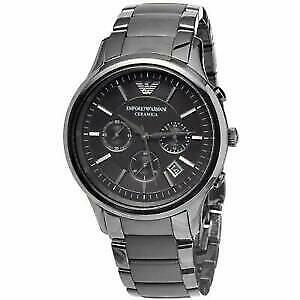 Emporio Armani AR1452 Dial 43MM Black Ceramic Matte Men's Watch
