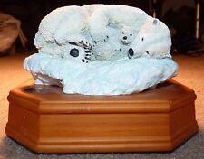 2001 San Francisco Music Box Co Polar Bears Wildlife Series Dream is a Wish Ngs