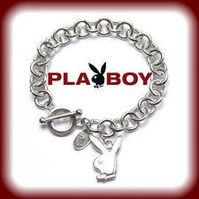 RARE NEW Playboy Bunny Bracelet Logo Charm Toggle Play Boy y2k Deadstock 2000s