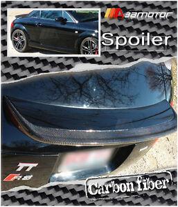 R-type Sport Rear Boot Carbon Fibre Trunk Spoiler fits Audi 00-06 TT 8N 1.8T MK1