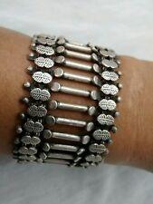 Statement Vintage India tribal old silver wide bracelet heavy 94.5 g