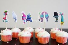 NEW SET OF 24 TROLLS CUPCAKE TOPPERS CAKE TOPPERS
