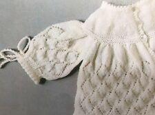 Cb81 - Knitting Pattern - Beautiful Newborn Baby's 3-ply Matinee Coat / Cardigan
