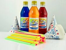Premium Slush Puppy Snow Cone syrup 3 x 500ML Pick & Mix use with all Machines