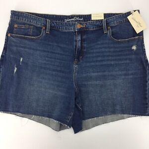 Women's Plus Size 26W Jean Shorts Universal Threads Boyfriend Denim Raw Edge