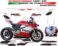 Kit adesivi per Ducati 899/1199/959/1299 Panigale design personalizzato