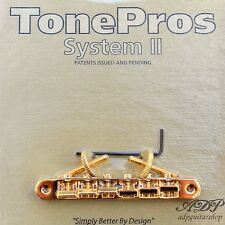 TonePros AVR2-G CHEVALET VINTAGE remplace ABR-I Tune-O-Matic locking Bridge GOLD