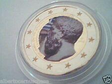 2 euro 2013 Grecia smaltato color Grece Griechenland Greece Platone Atene Athens