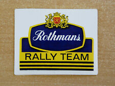 Rothmans Rally Team / Motorsport Sticker Decal
